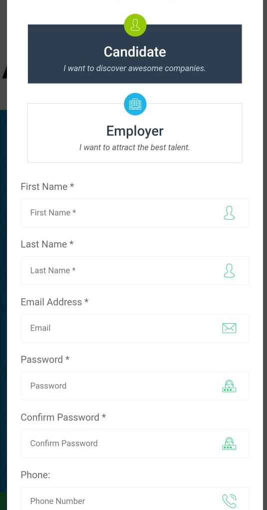 how to signup as a candidate